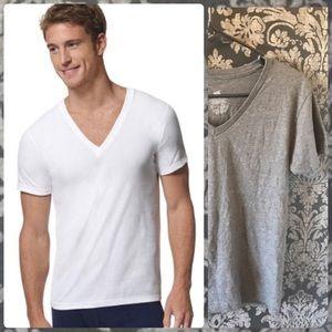 NWOT Hanes Grey Ultimate X-Temp V-Neck T-Shirt