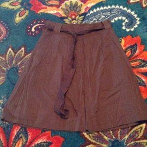 Women's a.n.a. Brown stripe pleated skirt