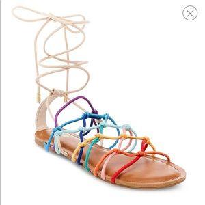 Colorful strap sandals