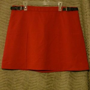Express nwt sz 8 red mod mini skirt new medium