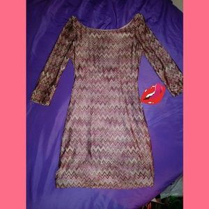 Classy As U Wish Zig Zag Printed Dress