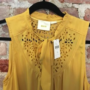 NWT Adorable Anthropologie/Maeve Yellow Blouse
