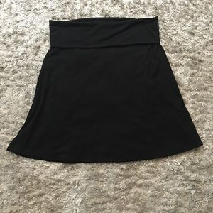 Black cotton roll top skirt Old Navy sz L