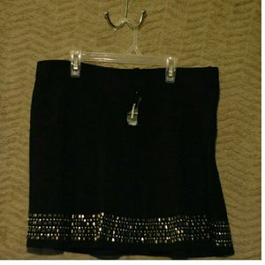 Express large new studded skater skirt embellished