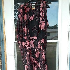 Chiffon wrap dress.