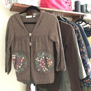 Anthropologie - Embroidered Cardigan