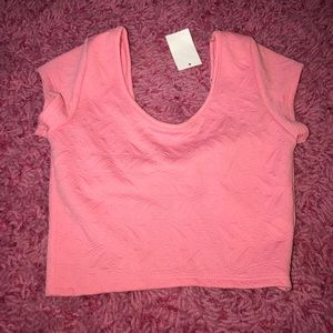 Brand New Pink Crop top from Charlotte Russe