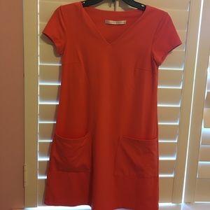 Susana Monaco Orange Short Slv Dress Small