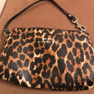 LIMITED EDITION Coach Cheetah Print Wristlet