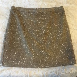 Gold and cream tweed skirt size 10