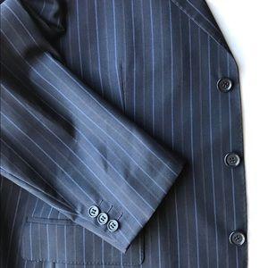42S Ermenegildo Zegna Gritti Navy Pinstripe Jacket