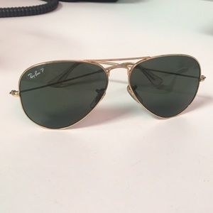 Ray-Ban Aviator Gold Green Classic G-15 Polarized