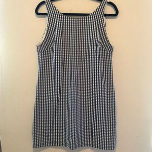 Zara blue/white gingham mini-dress