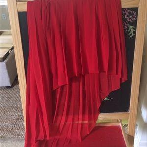 Bebe High Lo Pleated Skirt