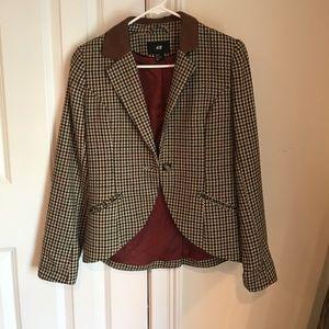 H&M houndstooth blazer.