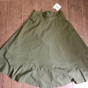 Asos military style high rise midi skirt