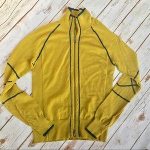 ATHLETA Merino Wool Zip Front Sweater - sz. M