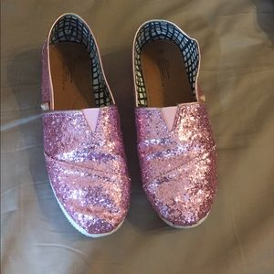 Pink Glitter Toms look alikes