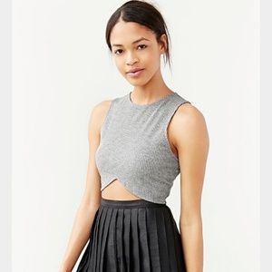 Silence and Noise Ribbed Crop Top
