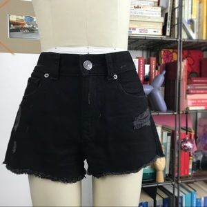 Cut Off Distressed Jean Shorts