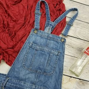 Old Navy Tapered Leg Blue Jean Overalls