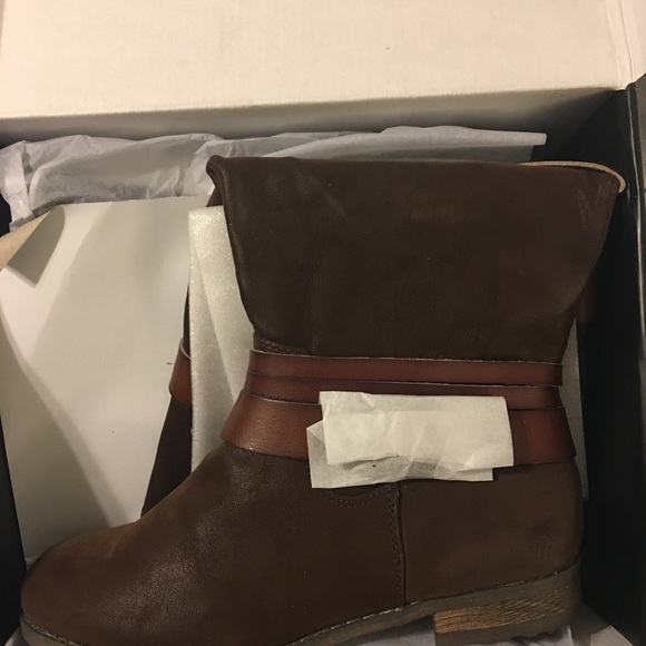Lane Bryant Shoes - Lane Bryant Brown Multi strap Faux Suede Boots 9W