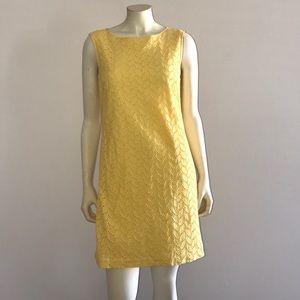 Ann Taylor Loft yellow Lace dress 4