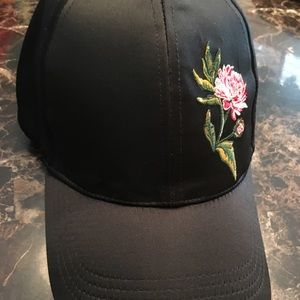 Women's David Young Silky Ball Cap with a Rose