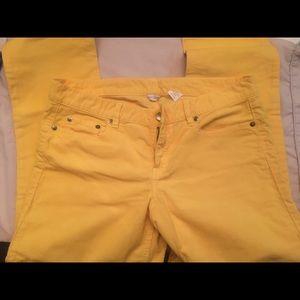 J Crew yellow corduroy pants sz 30R