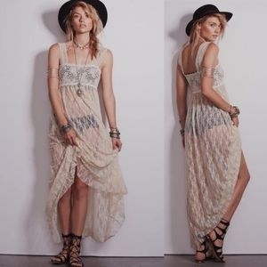 Free People lace intimate maxi