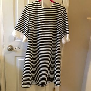 NY & Company Pleat-Sleeve sheath dress