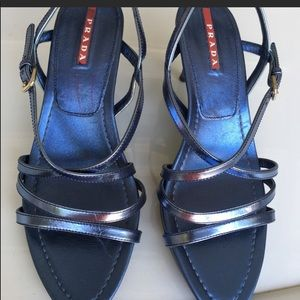 Prada Metallic Sandals