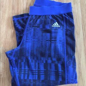 Adidas blue compression Capri size large techfit
