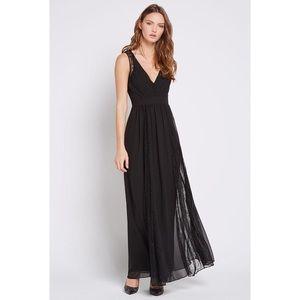 BCBGENERATION Lace Flowy Maxi Dress