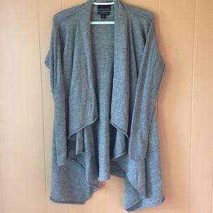 Cynthia Rowley grey cardigan 100% Merino Wool