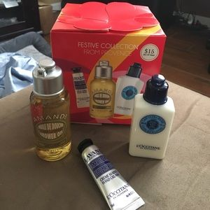 Loccitane festive collection set of 3 items in box