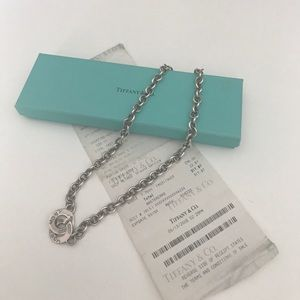 Tiffany and Co logo Clasp Silver necklace