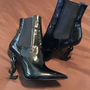 YSL Ankle Boots Black Patent❣️