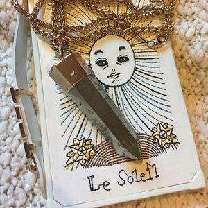 Kendra Scott Rose Gold Pyrite Jayce necklace