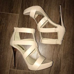 Nude & rose gold heels by INC