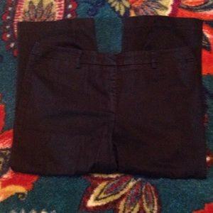 Black dress Stretch Capri Pants