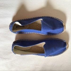 NEW Soludos Espadrilles Blue 9