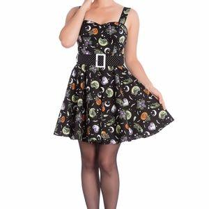 Hell Bunny Salem Mini Dress Halloween Pinup Retro
