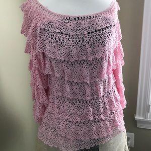 Hand crocheted cardigan