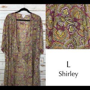 LuLaRoe Large Shirley kimono cardigan