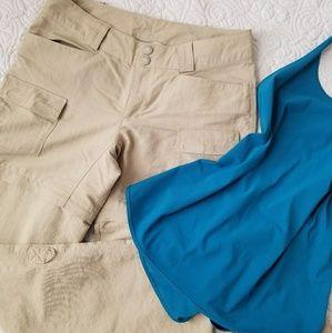 North face convertible zip up hiking pants