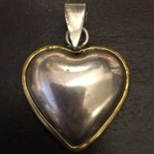 Vintage Sterling silver heart pendant