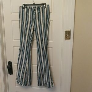 Free People striped bell bottoms