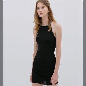 Black Zara Knit Dress Size Medium