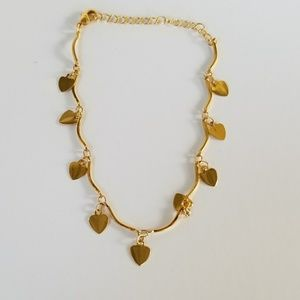 Jewelry - Gold Plated Hearts Bracelet/Anklet